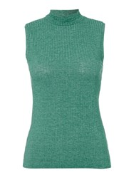 Therapy Tilly Turtle Neck Sleeveless Top Green