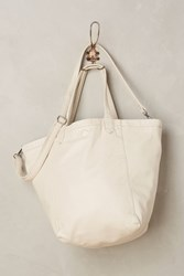 Anthropologie Reversible Vegan Leather Tote White