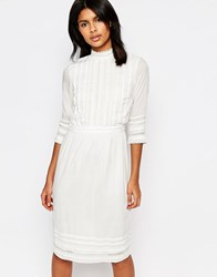 Warehouse Victoriana Dress White