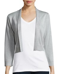 Calvin Klein Shimmer Open Front Cardigan Silver