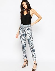 Paper Dolls Trousers In Mono Floral Print Multi
