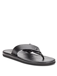 Kenneth Cole Reaction Feel It Leather Thong Sandals Black