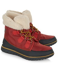 Sorel Red Cozy Carnival Fleece Boots