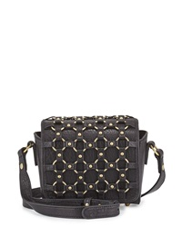 Ash Lulu Ring Detail Crossbody Bag Black