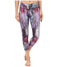 Beyond Yoga Lux Print Capri Leggings Foxing Women's Casual Pants Multi