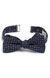 Gitman Brothers Vintage Men's Gitman Geometric Silk Bow Tie Navy