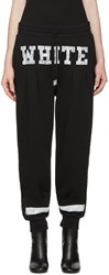Off White Black College Lounge Pants