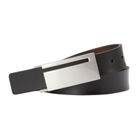 John Lewis Reversible Metal Plaque Leather Belt