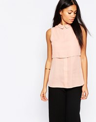 Influence Double Layered Shirt In Crepe Pink