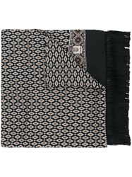 Dolce And Gabbana Printed Scarf Black