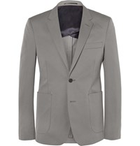 Acne Studios Grey Stan Slim Fit Cotton Twill Blazer Gray