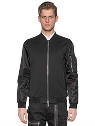 Dsquared Satin And Wool Gabardine Bomber Jacket