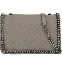 Aldo Greenwald Faux Leather Shoulder Bag Grey
