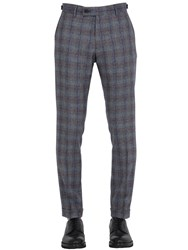 Berwich Plaid Wool Cropped Trousers