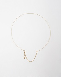 Saskia Diez Wire Necklace Rose Gold