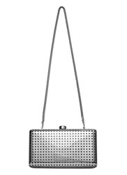 Stella Mccartney Perforated Metal Clutch Bag Silver