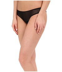 Only Hearts Club Tulle Ruched Back Thong Black Women's Underwear