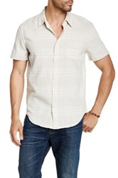 Lucky Brand Permanent Fit Stripe Woven Shirt Multi
