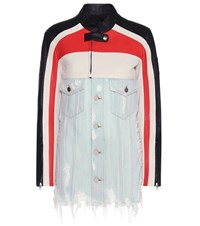 Alexander Wang Denim And Leather Jacket Multicoloured