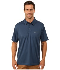 Quiksilver Waterman Waterman Collection Water Polo 2 Knit Polo Scuba Men's Short Sleeve Pullover Blue