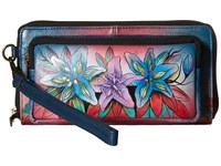 Anuschka 1111 Luscious Lilies Denim Handbags Multi