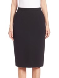 Escada Solid Pencil Skirt Black
