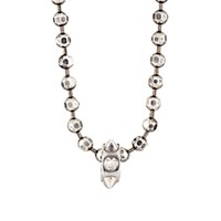 Emanuele Bicocchi Men's Spiked Charm On Faceted Ball Chain Silver