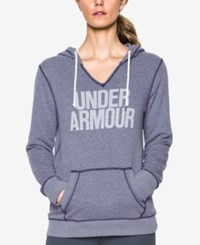 Under Armour Favorite Fleece Logo Pullover Hoodie Midnight Navy