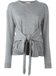 N 21 Nao21 Front Tie Blouse Grey