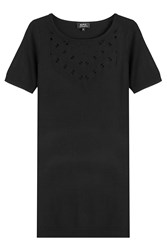 A.P.C. Merino Knit Dress With Drop Stitch Detailing Black