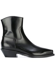 Dolce And Gabbana Low Heel Ankle Boots Black