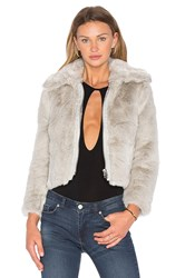 Cheap Monday Pace Faux Fur Jacket Gray