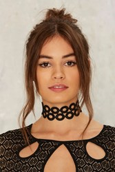 Circle The Block Lace Choker Black