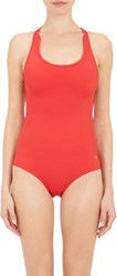 Tomas Maier One Piece Swimsuit Red