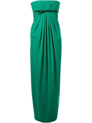 Dsquared2 Strapless Evening Gown Green