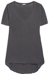 Splendid Vintage Whisper Cotton Jersey T Shirt Charcoal