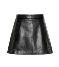 Ganni Passion Leather Miniskirt Black