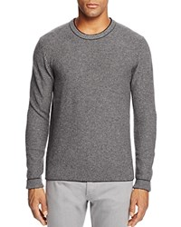Bloomingdale's The Men's Store At Wool And Cashmere Blend Crewneck Sweater Raisin Granite Silver Grey