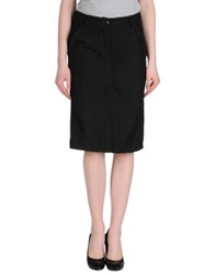 Rare Ra Re Knee Length Skirts Black