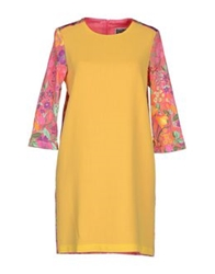 Femme By Michele Rossi Short Dresses Yellow