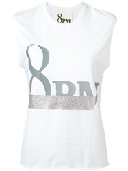 8Pm Print Tank Top White