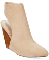 Charles By Charles David India Slingback Wedge Booties Women's Shoes Nude