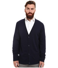 Wesc Borik Knitted Sweater Cardigan Blue Iris Men's Clothing Multi