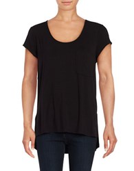 Lord And Taylor Solid Pocket Tee Black
