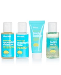 Bliss 4 Pc. Fresh On The Fly Bath And Body Set No Color