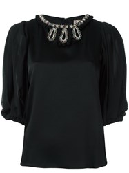 Antonio Marras Embellished Neck Blouse Black