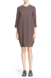 Women's Fabiana Filippi Crepe Dress With Necklace Collar