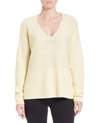 Lord And Taylor Oversized V Neck Pullover Canary