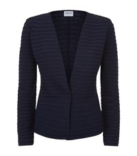 Armani Collezioni Wave Textured Cardigan Female Navy