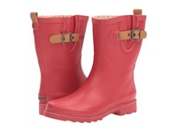 Chooka Top Solid Mid Rain Boot Red Women's Rain Boots